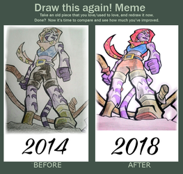 Draw this again! Meme by heavyrain1