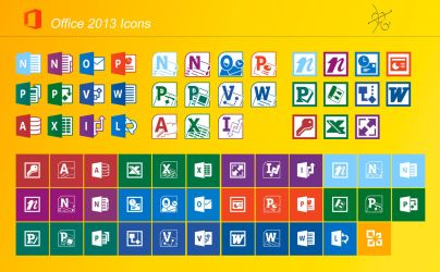 Office 2013 icons by dtafalonso