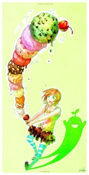Thank You: Ice Cream Tower by yuumei