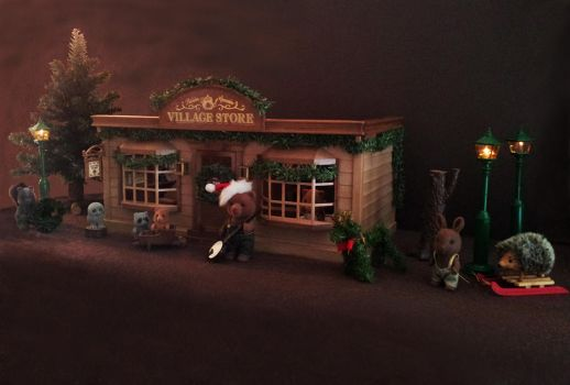 Village Store by flockedfriends4real
