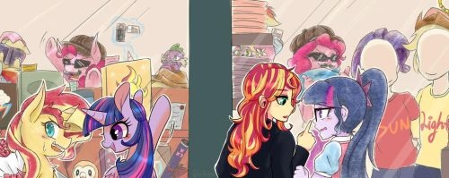Collab - Double Date Sunlight with Phyllismi by Aka-Ryuga