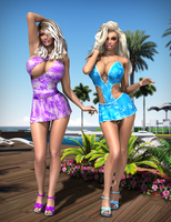 Jordan and Barbie - Poolside I by Dynamoob
