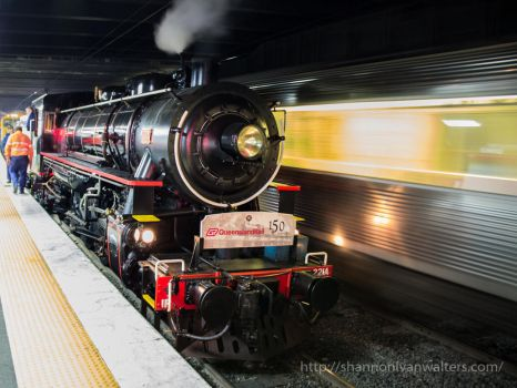 AC16 #221A at Ipswich Station by ShannonIWalters