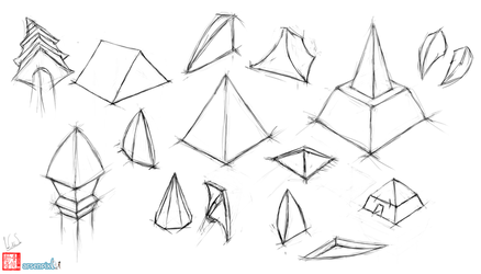 Pyramid perspective practice by XLordAndyX