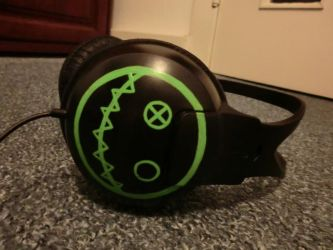 Fun Ghoul Headphones by thriceandonce