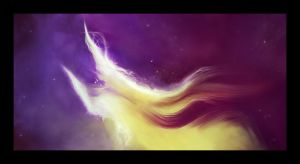 The Space Unicorn by kybel