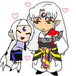 Koto and Sesshomaru by Dizzy-Lizz