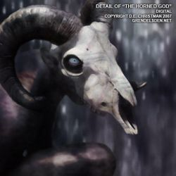 Detail - 'The Horned God' by grendelsden