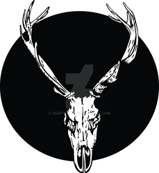 SKULL OF DEER by Dumpstaz