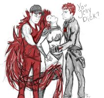Red is sexy. The Outlaws by FromTheBatCave