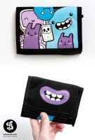 Music monsters wallet by Bobsmade