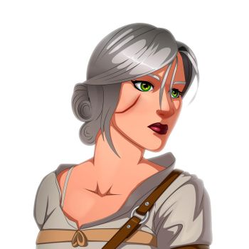 Ciri Fan art (Speed Test) by KryptnKnight