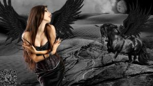 Dark Angel And The Black Knight by FABRYKING61