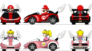Mario and Peach Wild Wing by FamousMari5