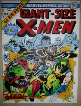 Giant Size X-men #1 Acrylic Painting by Gr4phik