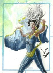 Storm scketchcard by Dreamlord2005