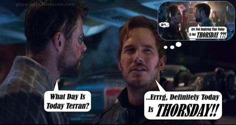 Starlord Fears Thorsday By Gizza Sigyn SP by Gizza-Sigyn