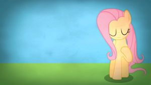 Fairly simple pony wallpapers - Fluttershy by Poowis