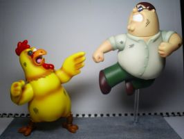 Family Guy: Giant Chicken Vs. Peter Griffin. by Lugnut1995