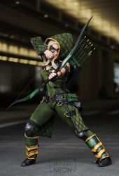 NYCC Female  Green Arrow Injustice by Its-Raining-Neon