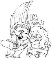 BNHA - HAPPY NEW YEAR by akkame