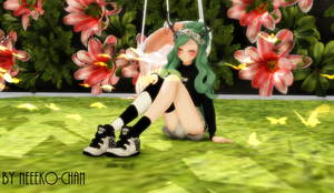 MMD Sitting on the Floor Pose [+DL] by Neeeko-chan