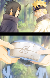 Naruto and Sasuke 699 Collab by afran67 by afran67