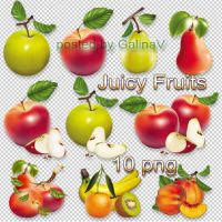 Clipart Juicy Fruits on transparent background by GalinaV