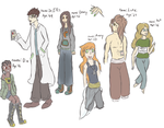 Post-Apoc Characters by Kuejena