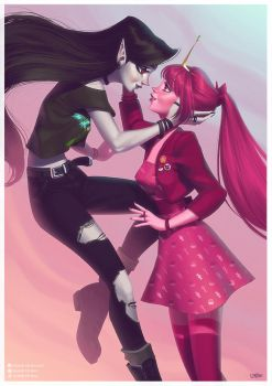 Marceline and Princess Bubblegum by lenadrofranci