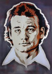 Bill Murray on cut wood by epyon5