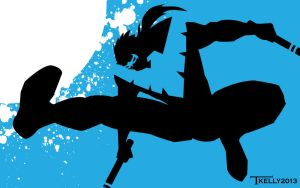 Nightwing BLACK and BLUE by artist Tom Kelly by TomKellyART