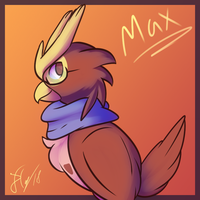 Max the Noctowl by Xael-The-Artist