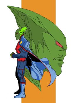 Martian Manhunter at Spitballin' by G-Spot1