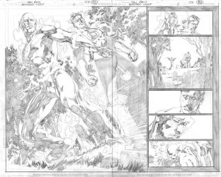 Blackest night 00 double page by IvanReisDC