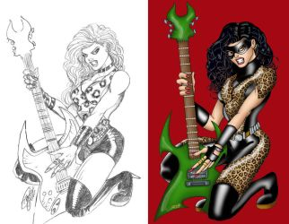 HR JAG GIRL 'sketch and final' by VAXION