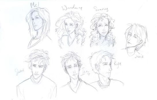 The Host-characters by burdge