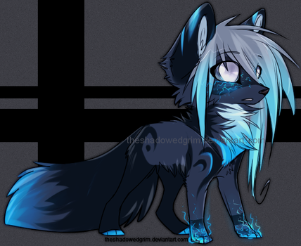 Blue chibi :Closed: by CandyBrains