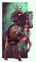 Geralt and Roach by Ysenna