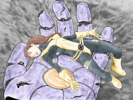 Kitty Pryde Captured by a Sentinel by cuttlesquid