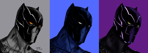 Black Panther variants by Soyelmejor999