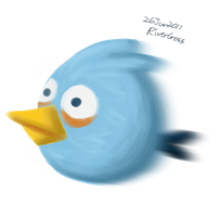 Blue angry bird by RiverKpocc