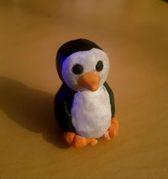Fimo penguin. by MadameButterfly94