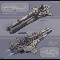 Heavy Cruiser Sieger by KaranaK