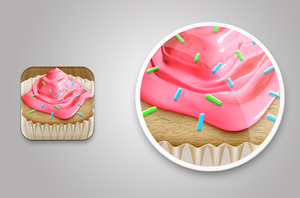 Pastry iphone app icon by Matylly