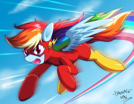 Commission: Rainbow Flash by DANMAKUMAN