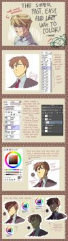 Super fast and easy way to color - tutorial by dahae1014