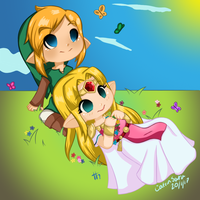 Collab: Field of Flowers by CatrinSara