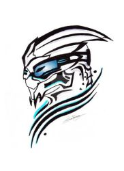 Another Garrus tribal tattoo by Northwolf89