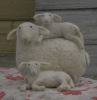 sheep with lambs by vriad-lee